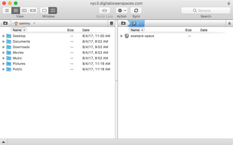Screenshot of default listing