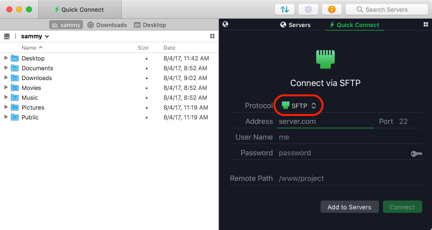 Transmit default interface