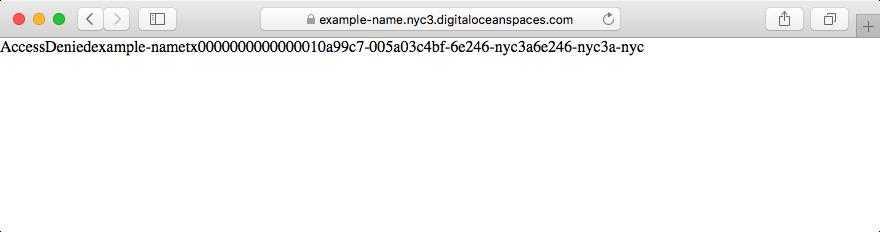AccessDenied error in a browser