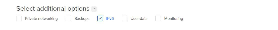 Screenshot of IPv6 box checked