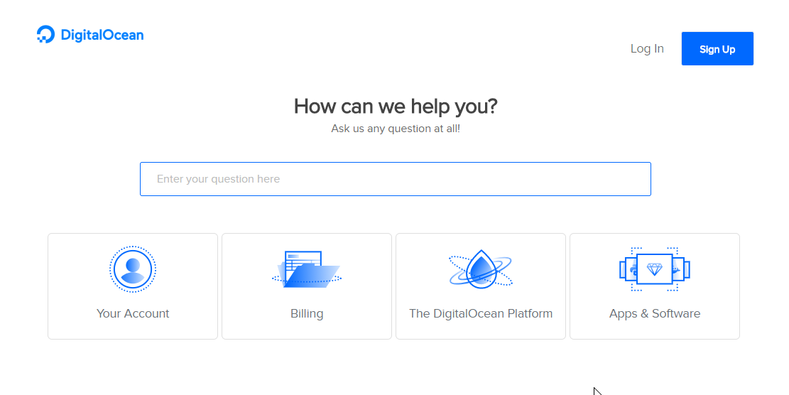 DigitalOcean Support page
