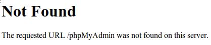 phpMyAdmin 404 error