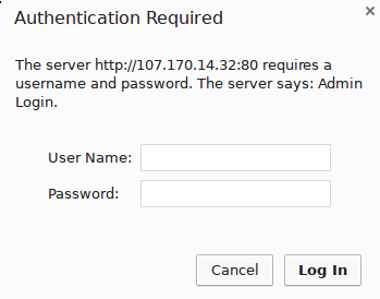 Apache authentication page