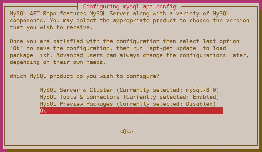 MySQL APT Repository Install