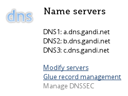 Modify servers