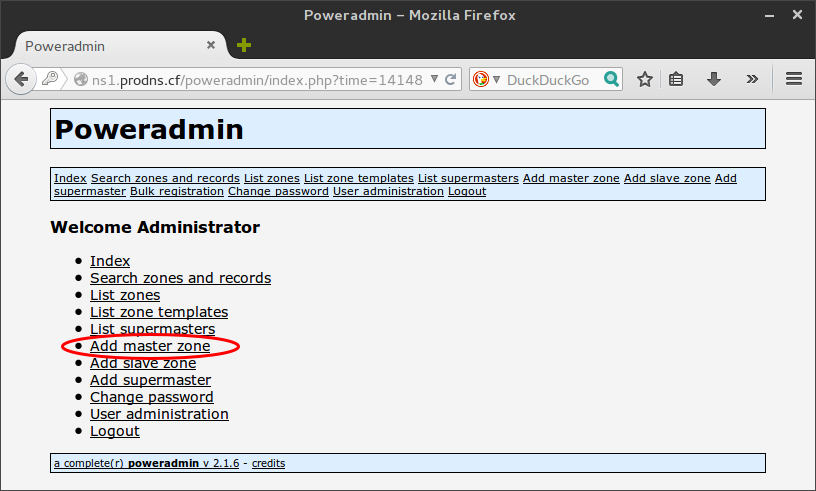 Poweradmin home page