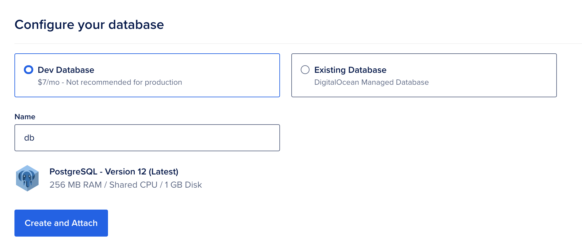 Configure your database