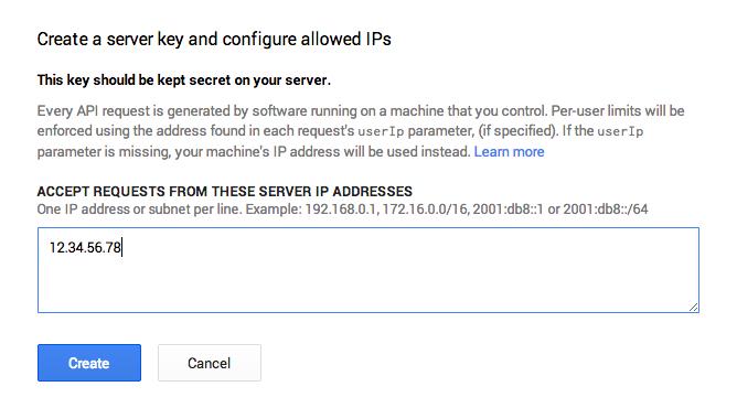 Server key IP