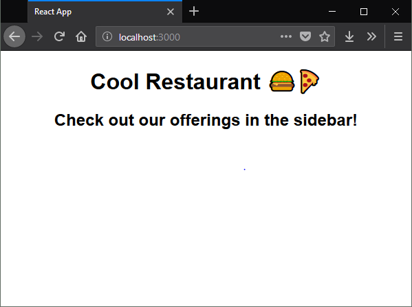 Screenshot of the Cool Restaurant webpage