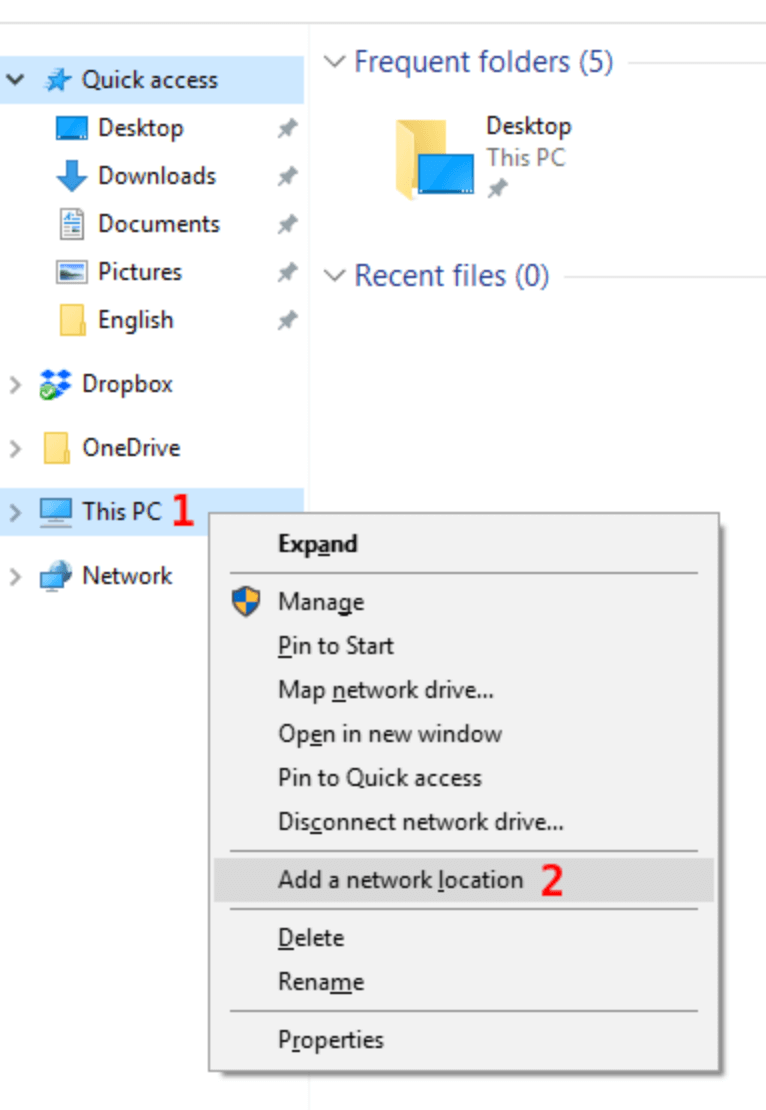 Image showing the context menu for This PC