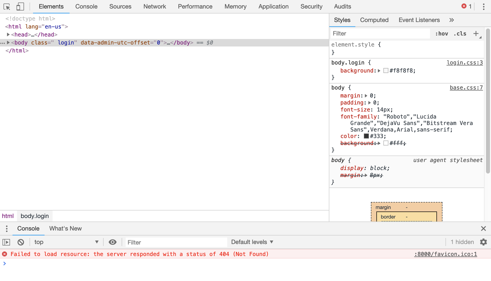 Chrome Dev Tools Window