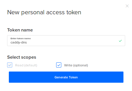 Creating a Personal Access Token