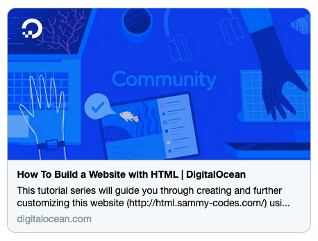 screenshot of the Twitter Card for this tutorial series