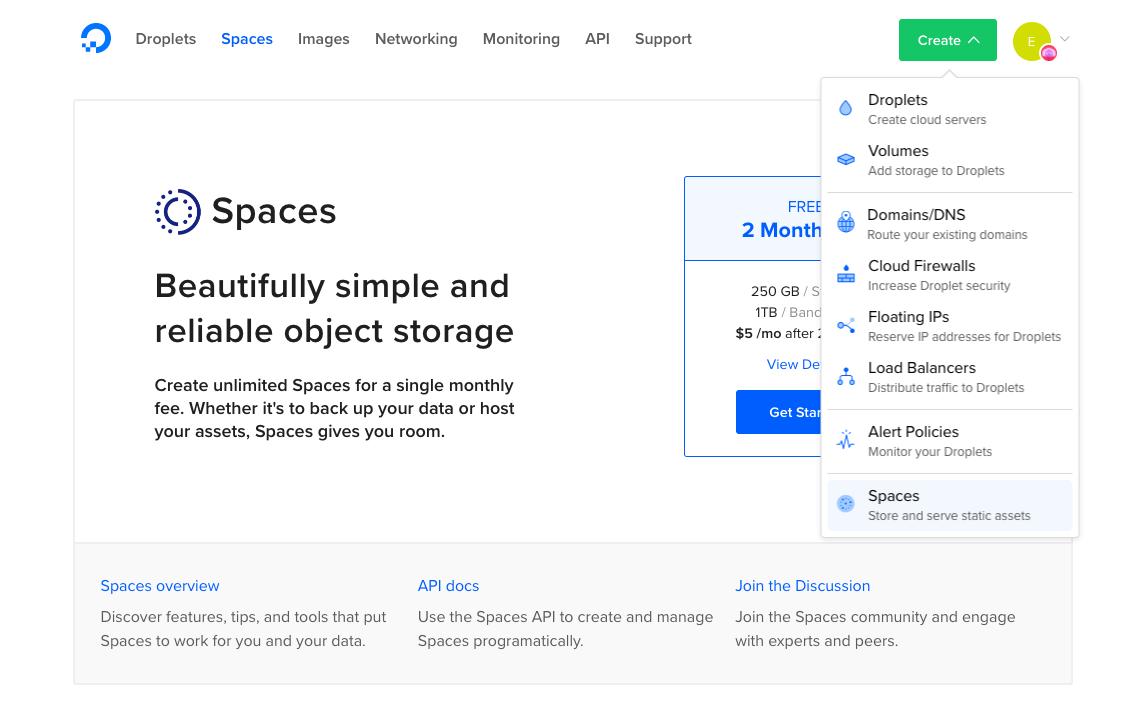 How To Create a DigitalOcean Space and API Key | DigitalOcean