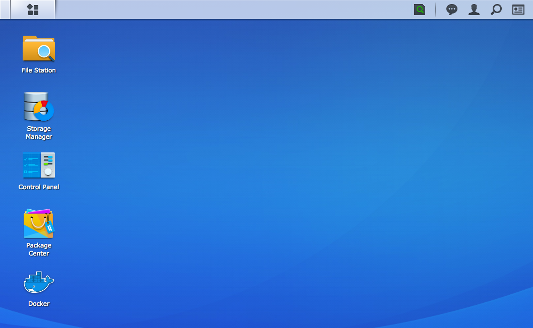 Synology DSM's desktop