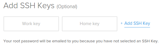 Clave SSH incorporada