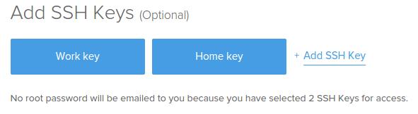 SSH-Schlüsselauswahl