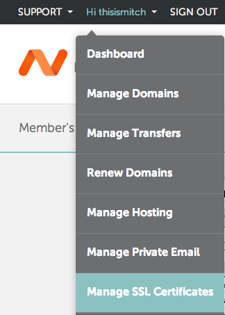 Namecheap: SSL