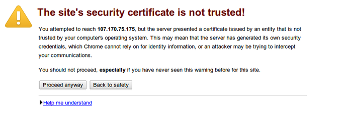 Ssh error validating server certificate