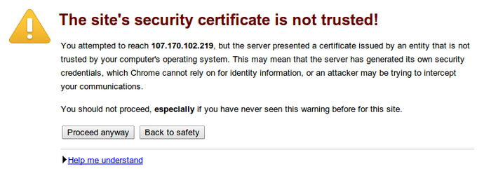 Nginx SSL warning