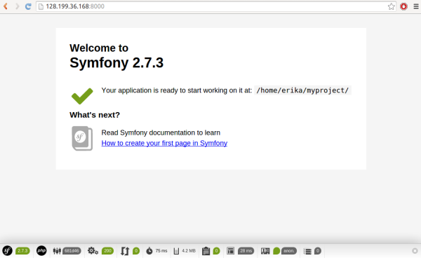 Symfony App Preview