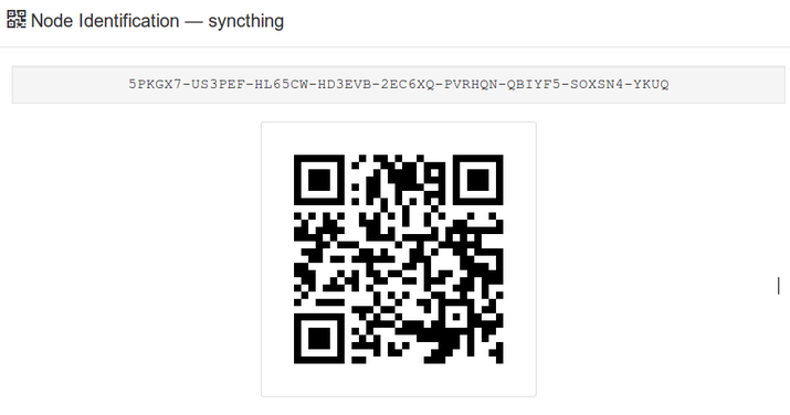 Syncthing copy ID