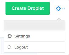 DigitalOcean settings link