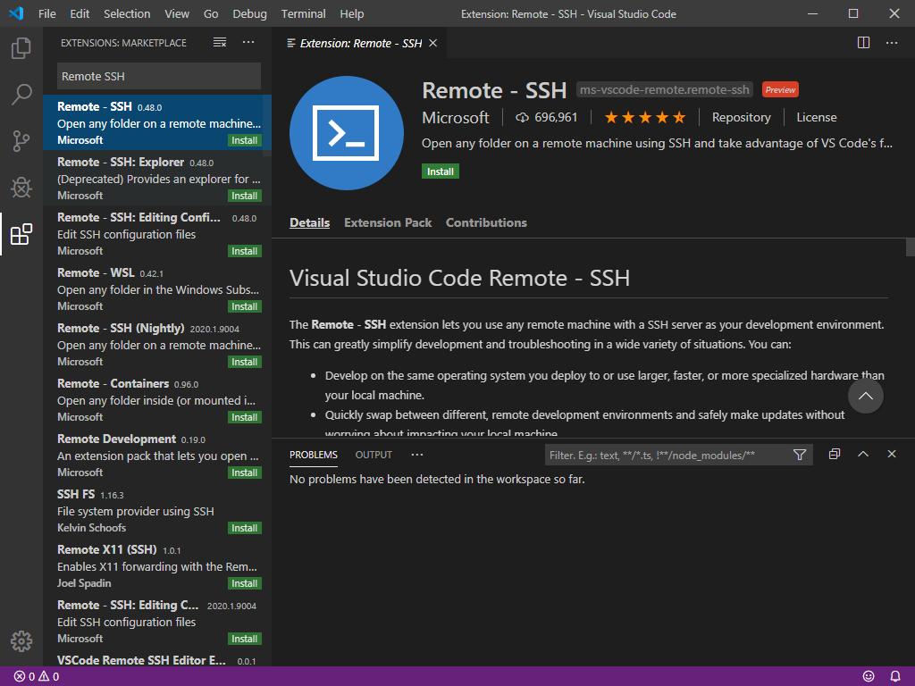 Search for the Remote SSH Plugin