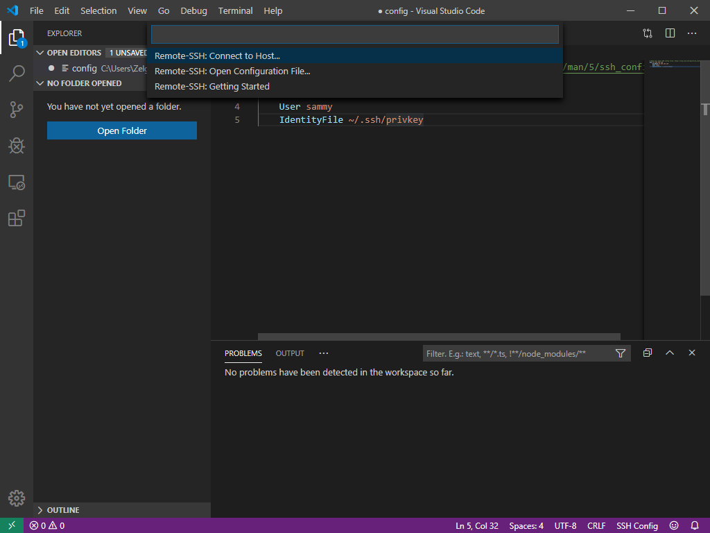 Connecting to the Server from Visual Studio Code