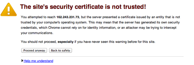 DigitalOcean SSL not trusted
