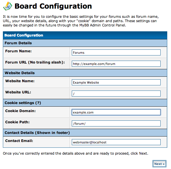 DigitalOcean MyBB board configuration