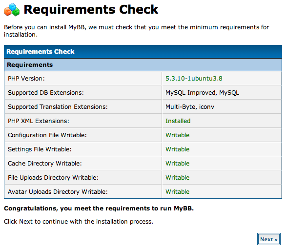 DigitalOcean MyBB requirements check