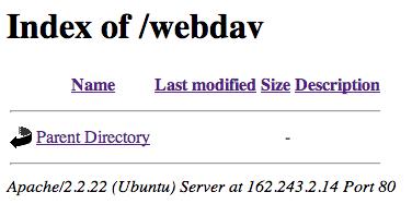 Empty WebDAV