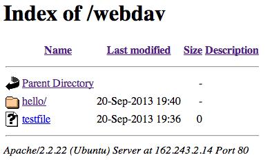 WebDAV content