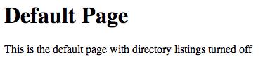 WebDAV landing page