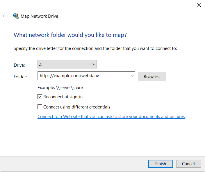 Image showing the URL entry dialog