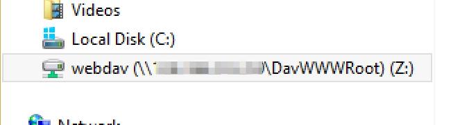 WebDAV Windows Step 5