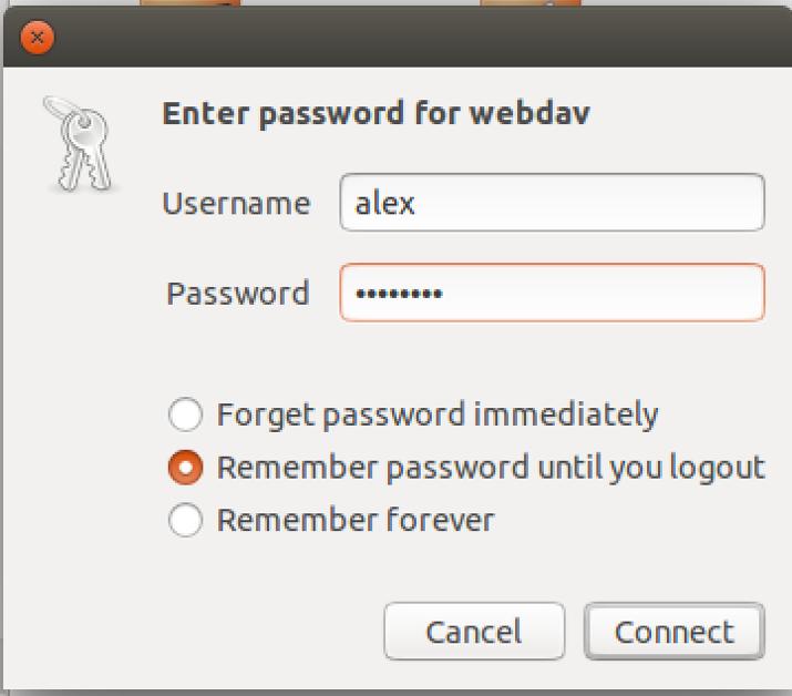 WebDAV Linux Step 3