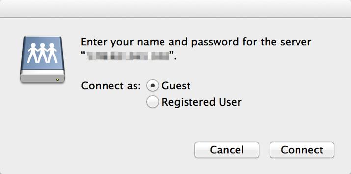 WebDAV Mac Step 2