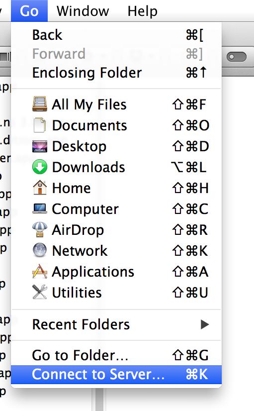 WebDAV Mac Step 1