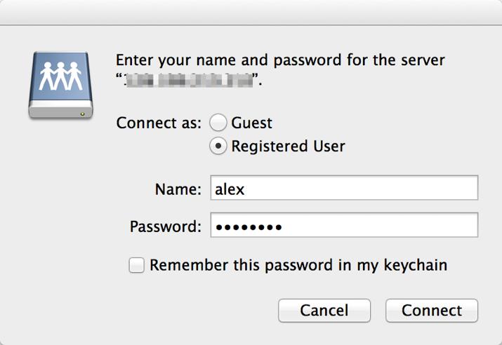 WebDAV Mac Step 3