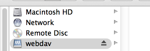 WebDAV Mac Step 4
