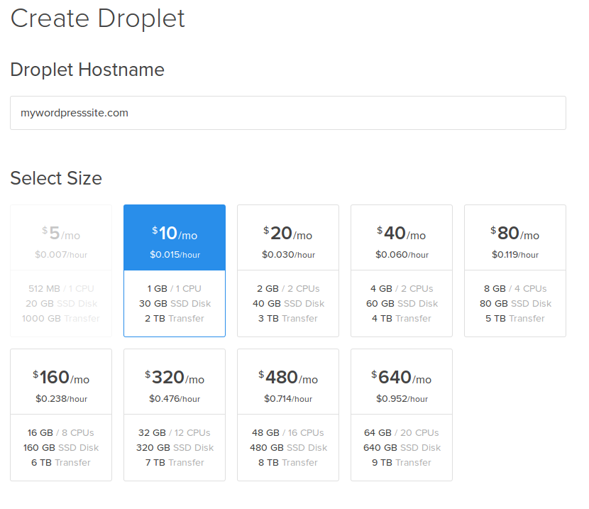 Create Droplet