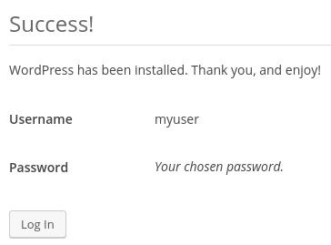 Запрос входа в WordPress