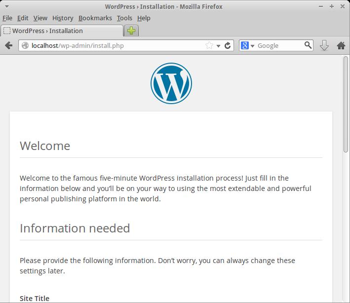 WordPress Welcome