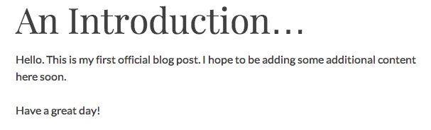 WordPress edited post