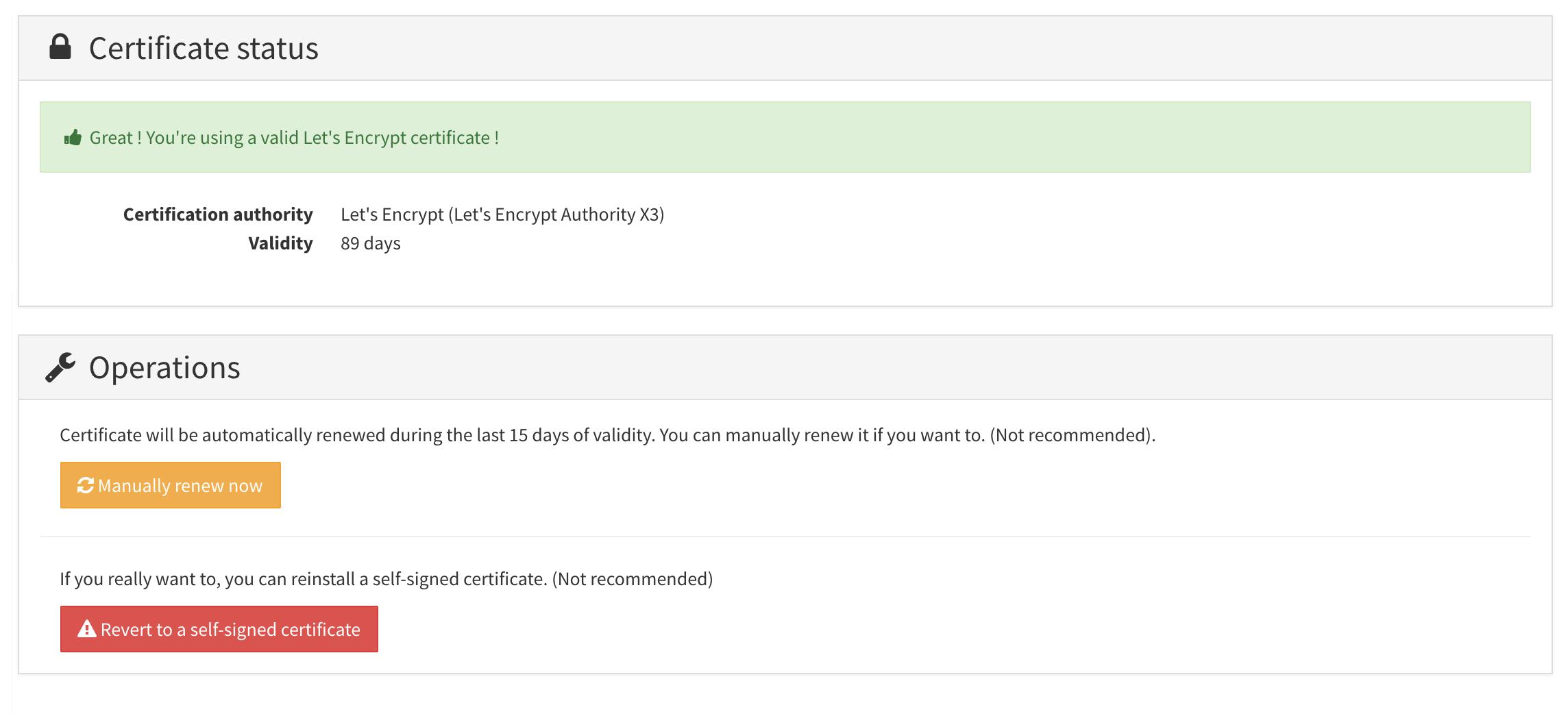 Manage SSL Certificates