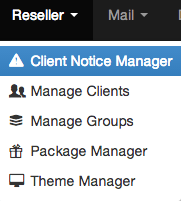 ZPanel Notice manager page