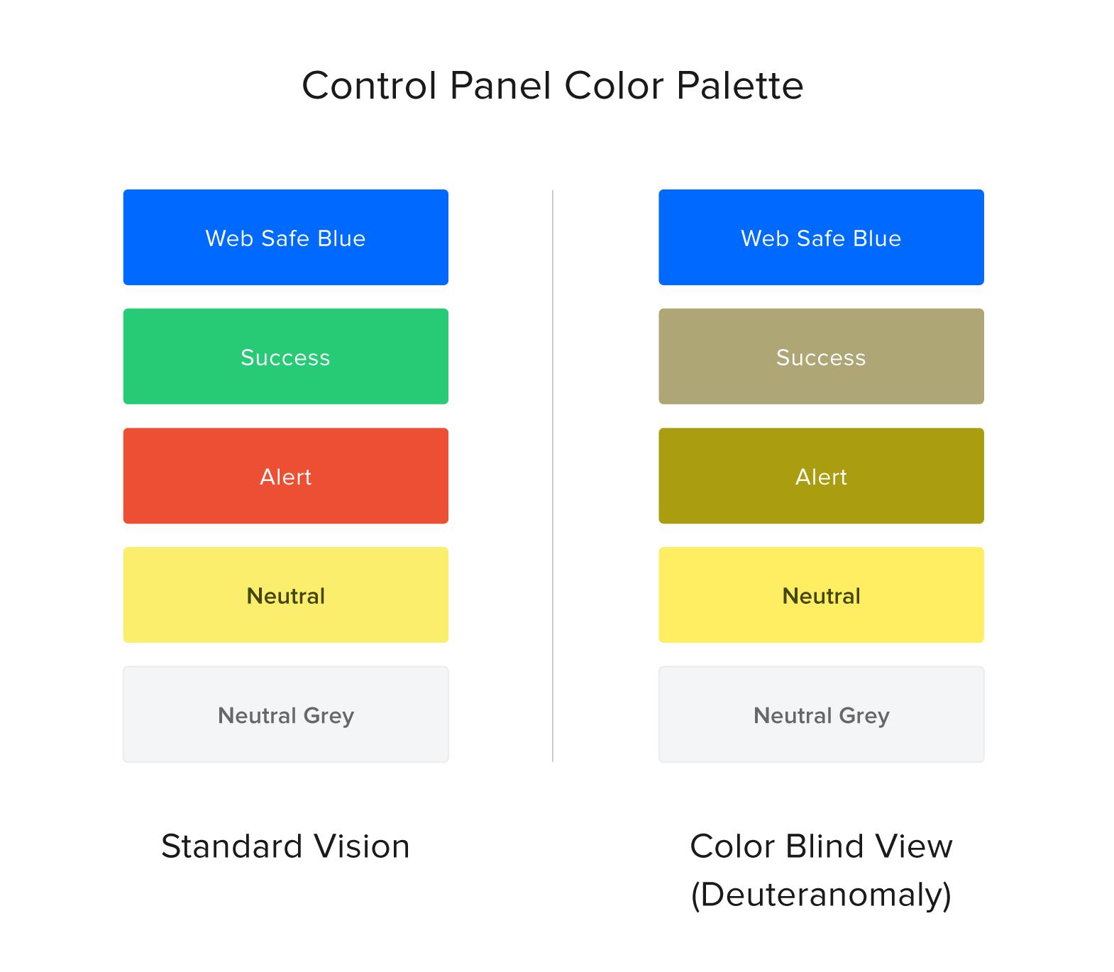 control panel color palette
