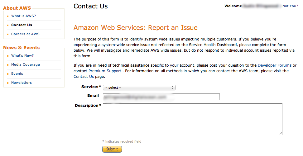 Amazon EC2 Report and Issue